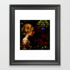 While waiting for Alice Framed Art Print
