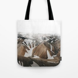 Iceland Snow and Mountains Tote Bag