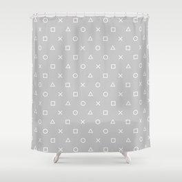Grey Gamer Shower Curtain