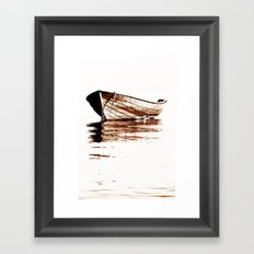 Wooden boat Framed Art Print