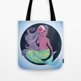 Trucker Cap Mermaid Tote Bag