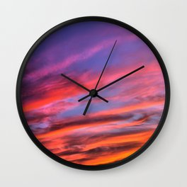 colorful clouds x Wall Clock