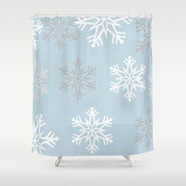 Pretty snow fall Shower Curtain