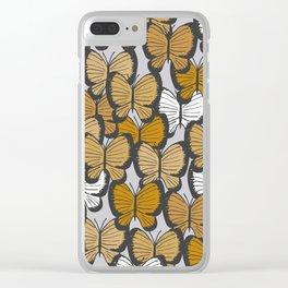 Golden butterflies Clear iPhone Case