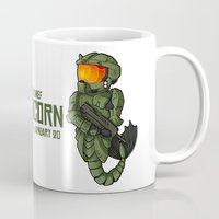 master chief Mugs featuring CAPRICORN MASTER CHIEF by Mademoiselle Zim