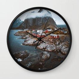 Hamnoy Village Wall Clock
