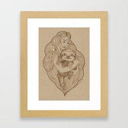 Slothy Christmas Framed Art Print