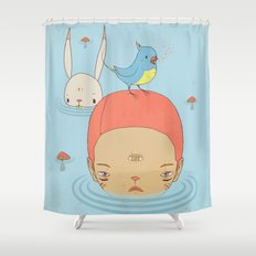 COME BACK HOME Shower Curtain
