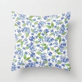 Blue Garden 1 Throw Pillow
