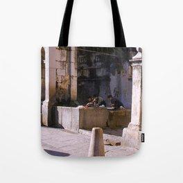 Vintage Color Photo * La Turbia * Italy * 1950's * Women washing clothes * Kodachrome * 1940's Tote Bag