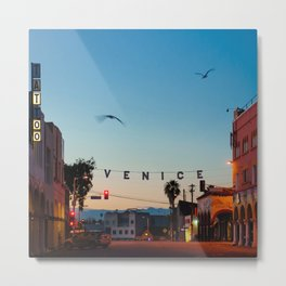 Venice Beach California Sunrise Metal Print