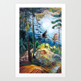 Emily Carr - British Columbia Landscape - Canada, Canadian Oil Painting - Group of Seven Art Print
