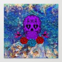 sugar skull Canvas Prints featuring Sugar Skull by haroulita