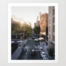 Manhattan Streets Art Print