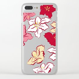 Poinsettia - 4 colors Clear iPhone Case