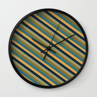 preppy Wall Clocks featuring Preppy No.2 by Farnell