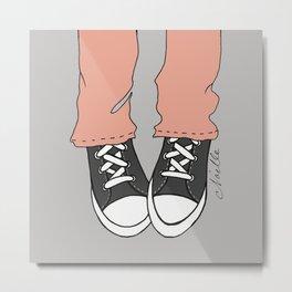 "Charcoal ""Kicks"" Metal Print"