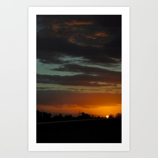 Orlando International Sunset Art Print