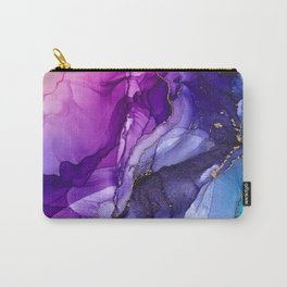 Abstract Vibrant Rainbow Ombre Carry-All Pouch