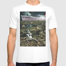 Snappie | Collage White MEDIUM Mens Fitted Tee