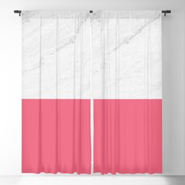Marble And Pink Blackout Curtain