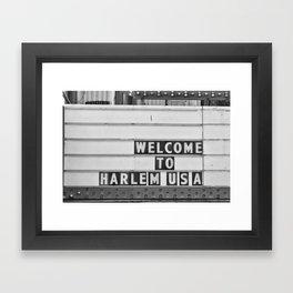 Welcome to Harlem Framed Art Print