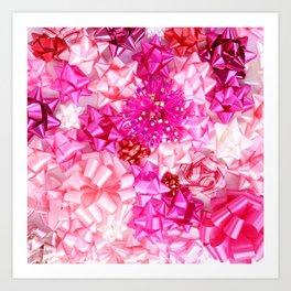 Put a pink bow on it! Art Print