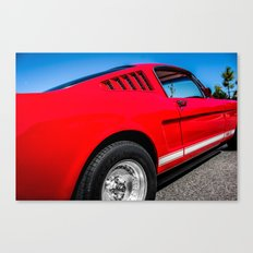1965 Red Fastback Ford Mustang Muscle Car Canvas Print