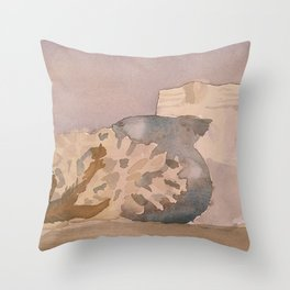Still Life in Purple and Yellow Throw Pillow