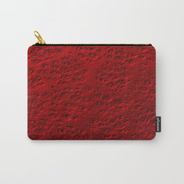 Damaged red metal Carry-All Pouch