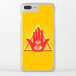 Hand and eye Clear iPhone Case