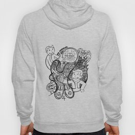 """War Never Changes"" Fallout Fan Art in BLACK AND WHITE. Hoody"