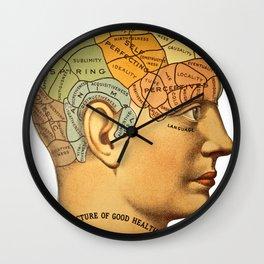 Phrenology | A Picture of Good Health circa 1881 Wall Clock