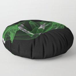 Pakistan Smoke Flag on Black Background, Pakistan flag Floor Pillow