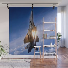 f-15 jet launching missile Wall Mural