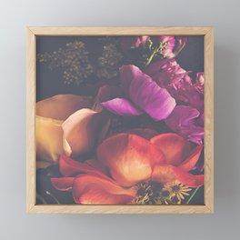 Color Burst Florals Framed Mini Art Print