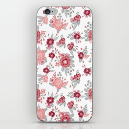 Floral Bama alabama crimson tide pattern gifts for university of alabama students and alumni iPhone Skin