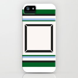 Green Blue And White Tile iPhone Case