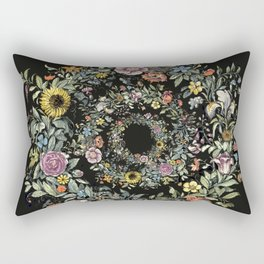 Circle of Life Dark Rectangular Pillow