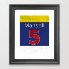 Mansell Red 5 Framed Art Print