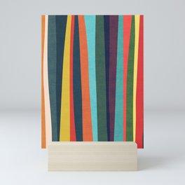 Mid-century zebra Mini Art Print