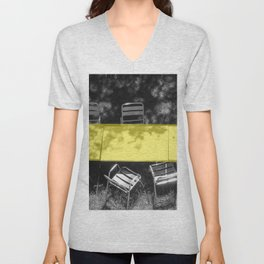 table in yellow Unisex V-Neck