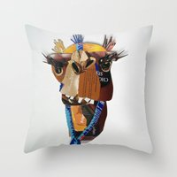 camel Throw Pillows featuring Camel by Ruud van Koningsbrugge