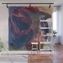 Minimal Zen Abstract Art Reflection of Life Wall Mural