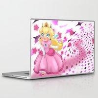 princess peach Laptop & iPad Skins featuring Princess Peach by Chimi-uzz
