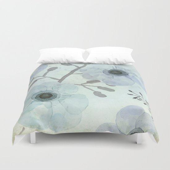 Anemone Blue Duvet Cover
