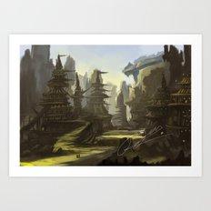 badlands Art Print