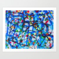 Lego: Jackson Pollock 1 Art Print