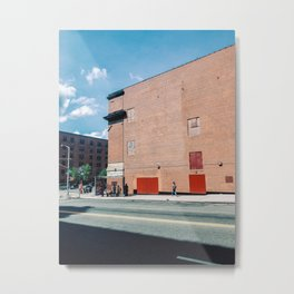 Walking The Spanish Harlem New York Metal Print