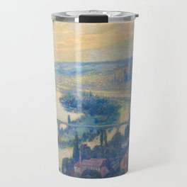 Václav Radimský (1867-1946) View of Rouen Impressionist Landscape Painting Bright Colors Oil Travel Mug